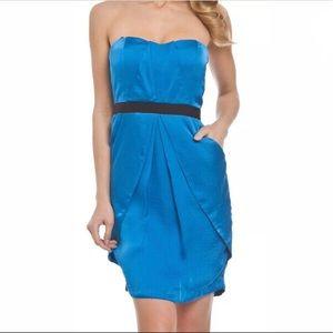Vince Camuto Satin Strapless Pocket Dress Size 4
